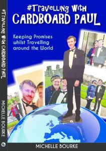 travelling with cardboard Paul front cover